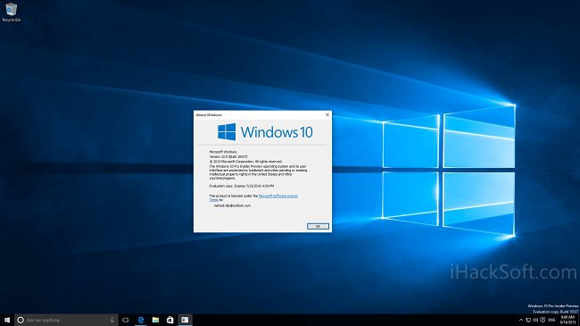Windows 10 Build 10537 截图